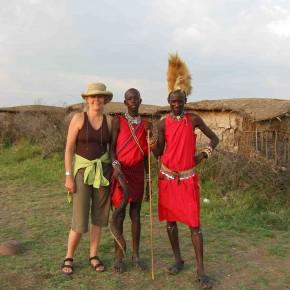 Lori Robinson on safari in Kenya