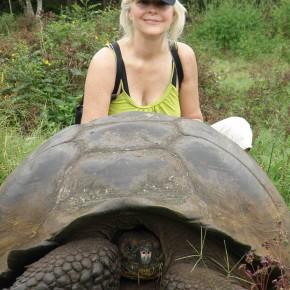 Lori Robinson in the Galapagos