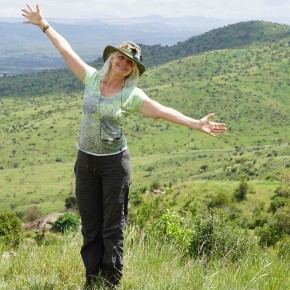 lori robinson on safari in Africa