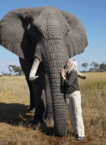 Lori Robinson at Living With Elephants Foundation in Botswana